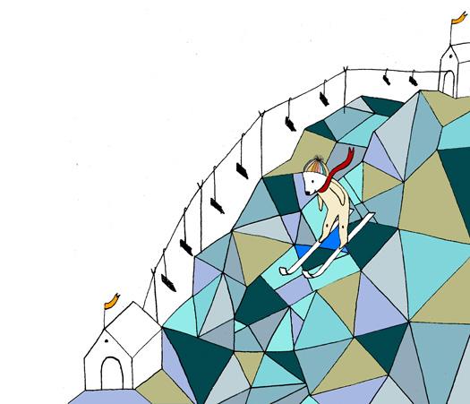 skieend mannetje