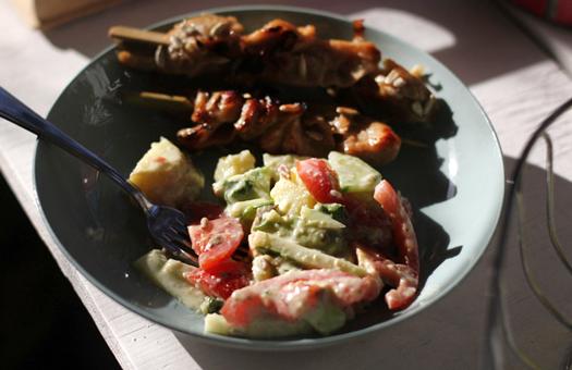 Spiesjes Salade